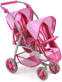 bayer-chic-2000-zwillings-buggy-vario-dots-pink