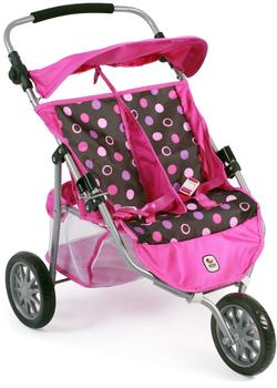 Bayer-Chic Zwillings-Buggy Jogger - Pinky Balls