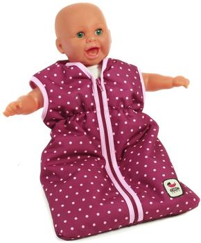 Bayer-Chic Puppenschlafsack - Dots Brombeere (79229)