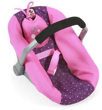 Bayer-Chic Puppen-Autositz - Punkte lila rosa