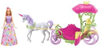 Barbie Bonbon Prinzessin Einhorn und Kutsche (DYX31)