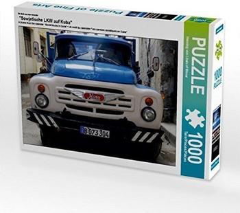 "Calvendo Ein Motiv aus dem Kalender ""Sowjetische LKW auf Kuba"" 1000 Teile Puzzle quer Calvendo Mobilitaet)"