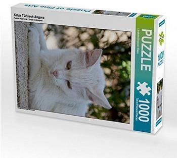 Calvendo Katze Türkisch Angora 1000 Teile Puzzle hoch Calvendo Tiere)