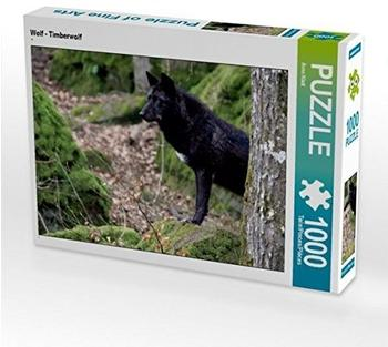 Calvendo Wolf - Timberwolf 1000 Teile Puzzle quer Calvendo Tiere)