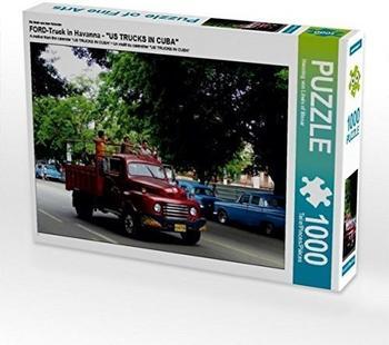 """Calvendo FORD-Truck in Havanna - Ein Motiv aus dem Kalender """"US TRUCKS IN CUBA"""" 1000 Teile Puzzle quer Calvendo Mobilitaet)"""