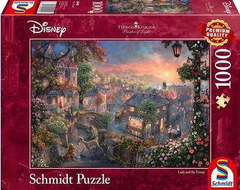 Schmidt-Spiele Thomas Kinkade Disney Susi und Strolch