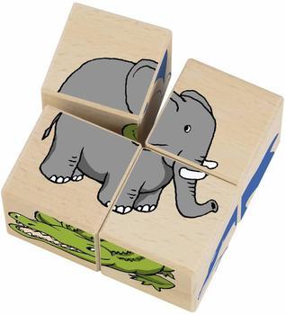 Schmidt Spiele Bilderwürfel Zoo , Puzzle 4 Teile
