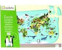Avenue Mandarine Avenue Mandarine–pu014C–Puzzle Weltkarte mit Poster als Guide