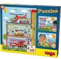Haba Puzzles Kleine Feuerwehr. (Kinderpuzzle)