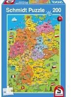 Schmidt Spiele Deutschlandkarte mit Bildern (Kinderpuzzle)