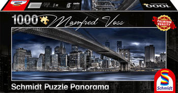 Schmidt Spiele Puzzle Panorama Manfred Voss New York, Dark Night