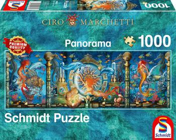 Schmidt Spiele Puzzle Panorama Ciro Marchetti Unterwasserwelt
