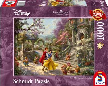 Schmidt Spiele 1000 Teile Schmidt Puzzle Thomas Kinkade Disney, Schneewittchen - Tanz mit dem Prinzen 59625