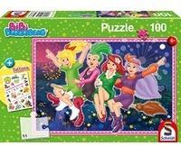 Schmidt Spiele 100 Teile Schmidt Spiele Puzzle Bibi Blocksberg Hexenausflug mit Tattoo-Sticker 56323