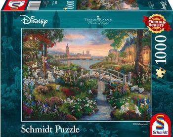 Schmidt Spiele 1000 Teile Schmidt Spiele Puzzle Thomas Kinkade Disney, 101 Dalmatiner 59489