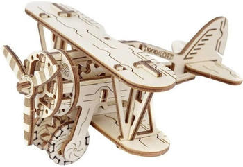Wooden City Biplane 3D