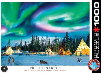 Eurographics Puzzles Northern Lights - Yellowknife 1000 Teile Puzzle (6000-5435)