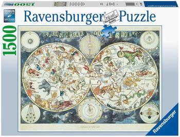Ravensburger Weltkarte mit fantastischen Tierwesen (1500 Teile)