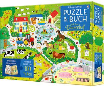 Usborne &Puzzle & Buch - Auf dem Bauernhof (100 Teile)