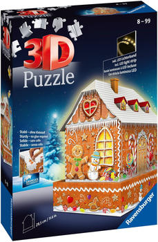 Ravensburger 3D-Puzzle Lebkuchenhaus bei Nacht (216 Teile)