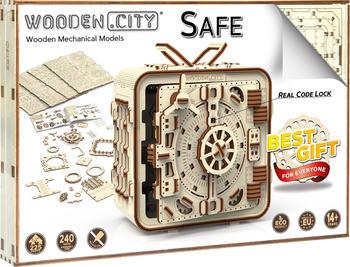 Wooden City 3D-Puzzle aus Holz Tresor