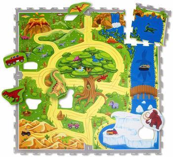 Hakuna Matte Puzzlematte für Babys Dinosauriersafari 1,2x1,2m