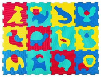 Hakuna Matte Puzzlematte für Babys Safari Animals 1,2x0,9m