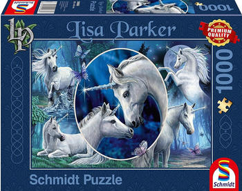 Schmidt-Spiele Lisa Parker Anmutige Einhörner 1000 Teile