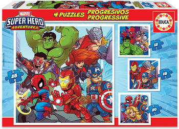 Educa Borrás Marvel Super Heroe Adventures 12+16+20+25 (18647)