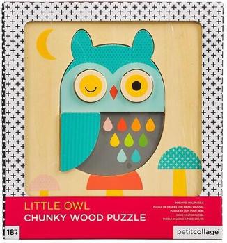 Petit Collage Holzpuzzle Eule (8754501)