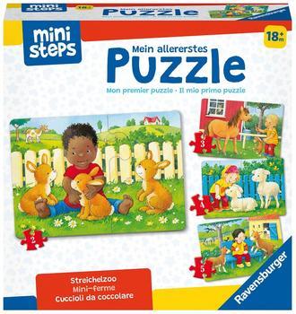 Ravensburger Mein allererstes Puzzle: mini steps Streichelzoo