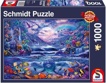 Schmidt-Spiele Puzzle - Mondschein-Oase, 1000 Teile (58945)
