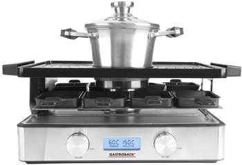 Gastroback 42562 Design Raclette- Fondue Advanced Plus