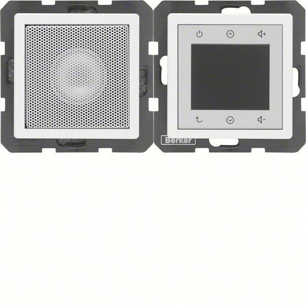 Berker Radio Touch mit Lautsprecher Q.1/Q.3 polarweiß samt (28806089)