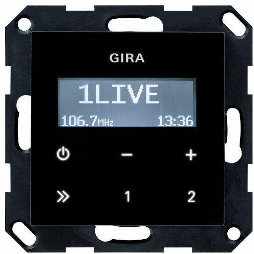 Gira Unterputz-Radio RDS ohne Lautsprecher schwarzglasoptik (228405)