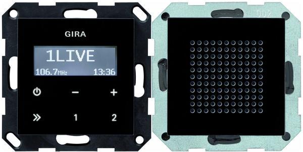 Gira Unterputz-Radio RDS schwarzglasoptik (228005)