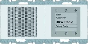 Berker Radio Touch mit Lautsprecher K.1 polarweiß glänzend (28807009)