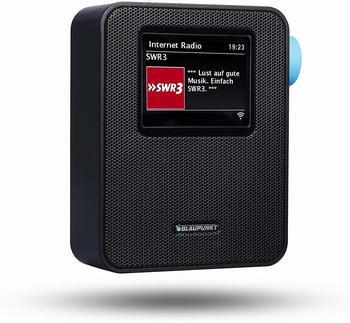 Blaupunkt Internet Steckdosen-Radio, Bluetooth Küchenradio, Farbdisplay PIB-100 Schwarz