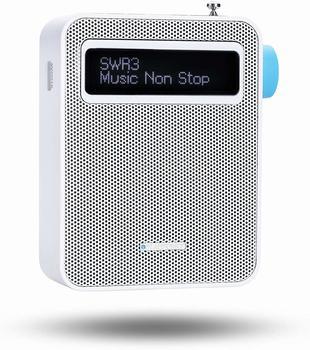 Blaupunkt Digital Steckdosenradio mit Bluetooth| Küchenradio DAB+ PDB-100 Weiß