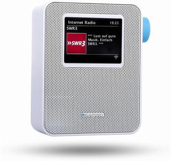 Blaupunkt Internet Steckdosen-Radio, Bluetooth Küchenradio, Farbdisplay PIB-100 Weiß