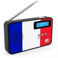 Sky Vision DABFM Radio mit Frankreich-Flagge DAB+ 100 für blau