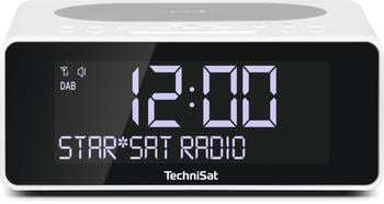TechniSat DIGITRADIO 52, weiß, UKW/DAB+ Weck-Radio Qi-Charging