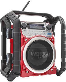Caliber Audio Technology WORKXL1 DAB+ Baustellenradio AUX, Bluetooth®, UKW Akku-Ladefunktion, wasse