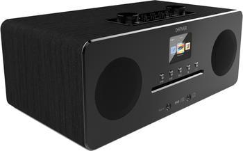 Denver MIR-260 Internet Tischradio AUX, Bluetooth®, CD, DAB+, NFC, UKW Schwarz