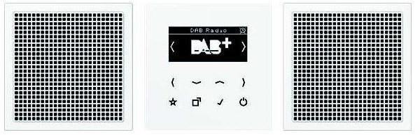 Jung Smart Radio DAB+, Set Stereo DAB LS2 WW