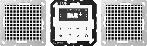 Jung Smart Radio DAB+, Set Stereo DAB A2 WW