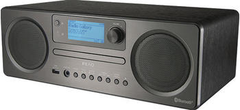 PEAQ PDR 360 BT-B DAB+ Internetradio (FM, DAB, DAB+, Schwarz/Grau)