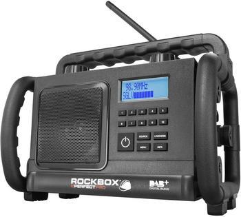 PerfectPro ROCKBOX Baustellenradio DAB+,UKW AUX,Bluetooth®,UKW stoßfest Schwarz
