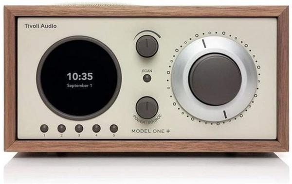 Tivoli Audio Model ONE+ FM/DAB+ Radio mit Bluetooth Walnuss/beige