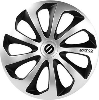 Sparco Sicilia SPC1573SVBK 15-Zoll - silber, schwarz(4 Stück)